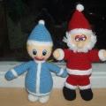 Дед Мороз и Снегурочка своими руками.