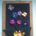 Панно «Цветы». Ручной и художественный труд детей и подростков