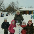 Снеговики в гостях у детей