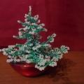«Подарок к Рождеству» (ёлочка из бисера)