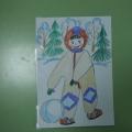 Конспект занятия по рисованию «Наши зимние забавы»