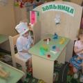 Сюжетно-ролевая игра в младшей группе «Больница»