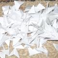 Ледяная елочка из модулей оригами.