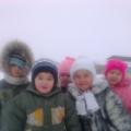 Первый снег. Наши прогулки.