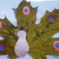 «Павлин из осенних листьев»