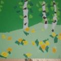 Весенний лес. Обрывная аппликация