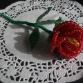 Мой первый цветок из бисера!
