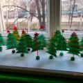 Мастер-класс по изготовлению новогодней елочки из бумаги с детьми