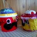 «Игольница для мамочки» (из майонезных баночек)