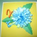 Мастер-класс открытка «Красивый цветок» в подарок маме.