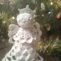 Рождественский Ангел (вязаная поделка)