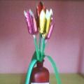Тюльпаны. Весенний букет из бумаги