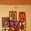 «Осенние листья». Витражи из бумаги.