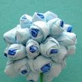 Голубые розы из салфеток. Мастер класс
