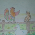 Рисунки детей средней группы по сказкам и стихотворениям татарских писателей