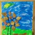 Поделка из пластилина «Осенний лес»