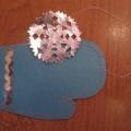 «Снежинка на рукавичке» для логопедических упражнений по развитию дыхания