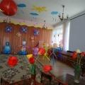 Оформление музыкального зала к выпускному празднику.