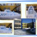 Снежная королева и другие скульптуры из снега на участке