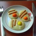 Сладкая яичница с беконом. Рецепт