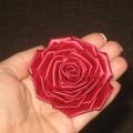 Канзаши роза. Мастер-класс