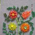 «Букет цветов» в технике квиллинг