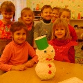 Веселый снеговик Дима