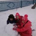 Прогулка «Как мы лепили снеговика!»
