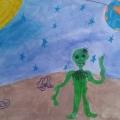 Творческое рисование на тему: «Космос близкий и далёкий» в подготовительной группе