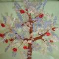 Дерево из бисера «Зимняя рябина»