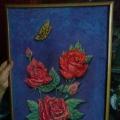 Панно из круп «Розы».