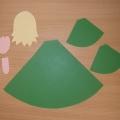 Куколка-Весняночка из бумаги на основе конуса