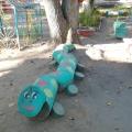 Оформление прогулочного участка в детском саду «Деревня смурфиков»