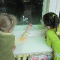 Рисование на стекле.