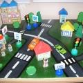 Макет для изучения правил дорожного движения в детском саду.
