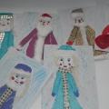 «Дед Мороз и Снегурочка». Мастер-класс.