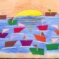 Коллективная работа «Корабли на рейде»