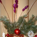 Вместо ёлки— новогодний букет