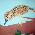 Птичка из стружки