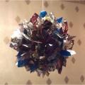 Новогоднее украшение «Шар из фантиков». Мастер-класс