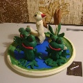 Лягушата на болоте