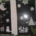 Украшаем дома окна к новому году