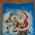 Мастер-класс «Новогодние открытки. Декупаж»