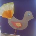 Мастер-класс по изготовлению птички из картона