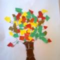 Осеннее дерево, палитра красок! Обрывная аппликация