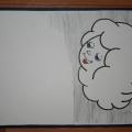Рисование: «Тучка и дождик»