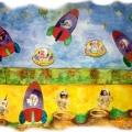 Наглядное пособие для НОД по ознакомлению с окружающим миром для детей старшей группы «Ракеты в космическом пространстве».