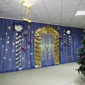 Новогоднее оформление музыкального зала «Дворец Деда Мороза»