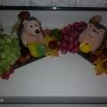 Композиция на столы в детском саду «Ежики». (Дары осени)