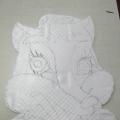 «Хитрый лис»— тертая пластилинография. Мини МК.